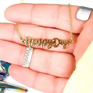 14k Gold Dipped Happy Day Necklace